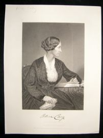 Alice Cary 1873 Antique Portrait Print